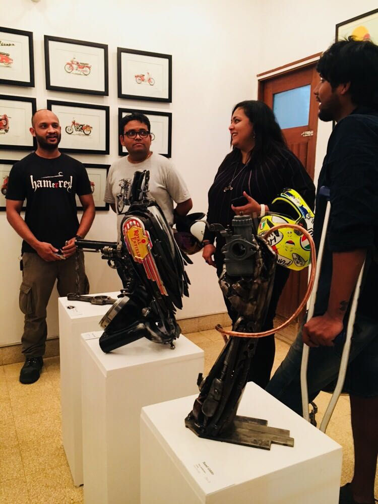 Art and guests at Moto Art Show, Bangalore, 2018