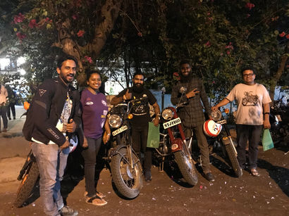 Art and guests at Moto Art Show, Bangalore, 2018