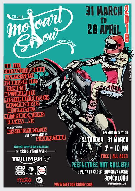 Moto Art Show - Indias first motoart exhbition.