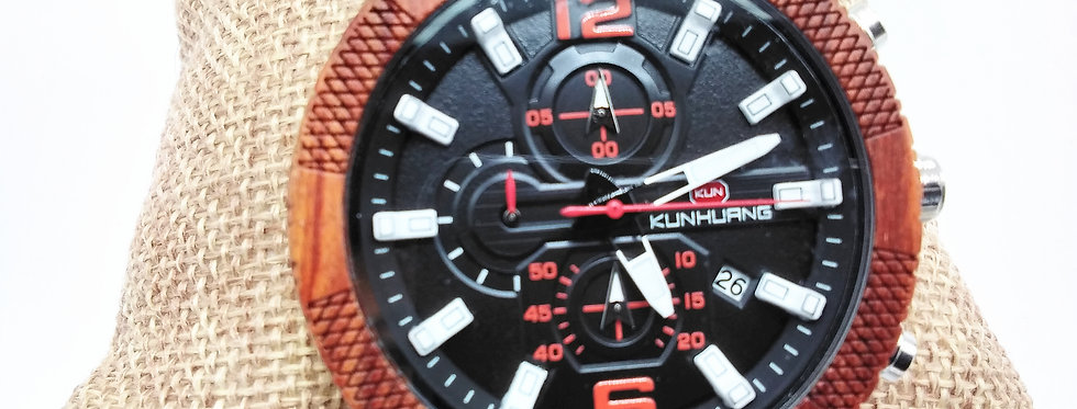 Wood Chronograph Watch