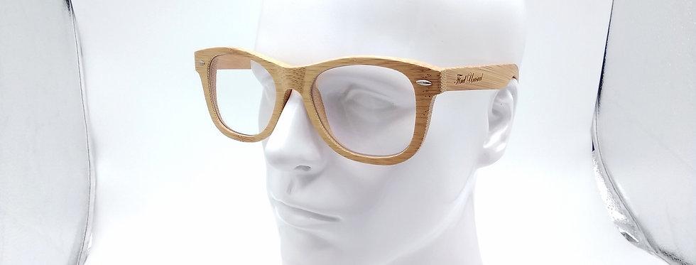 Bamboo glasses square blue light glasses