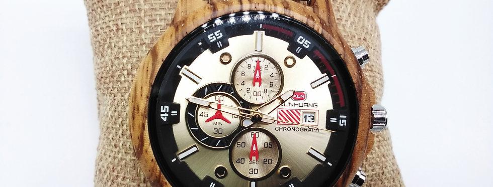 Chronograph Wood Watch
