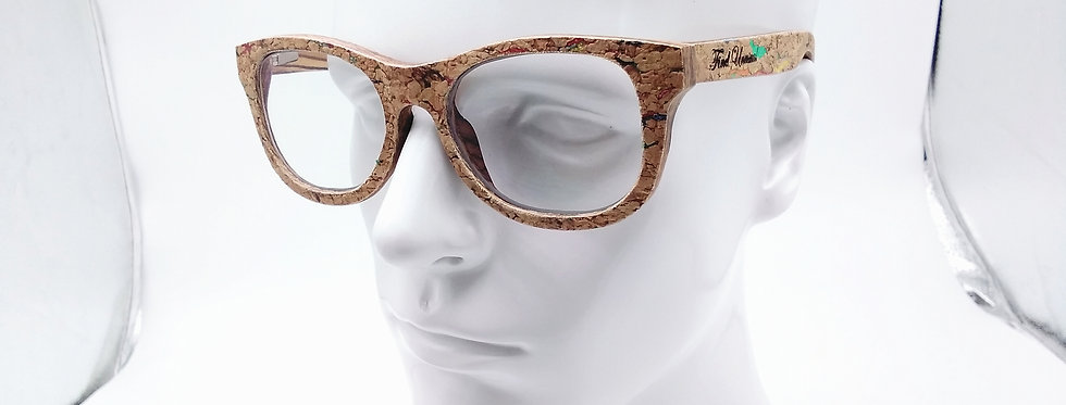 Cork wood glasses blue light glasses