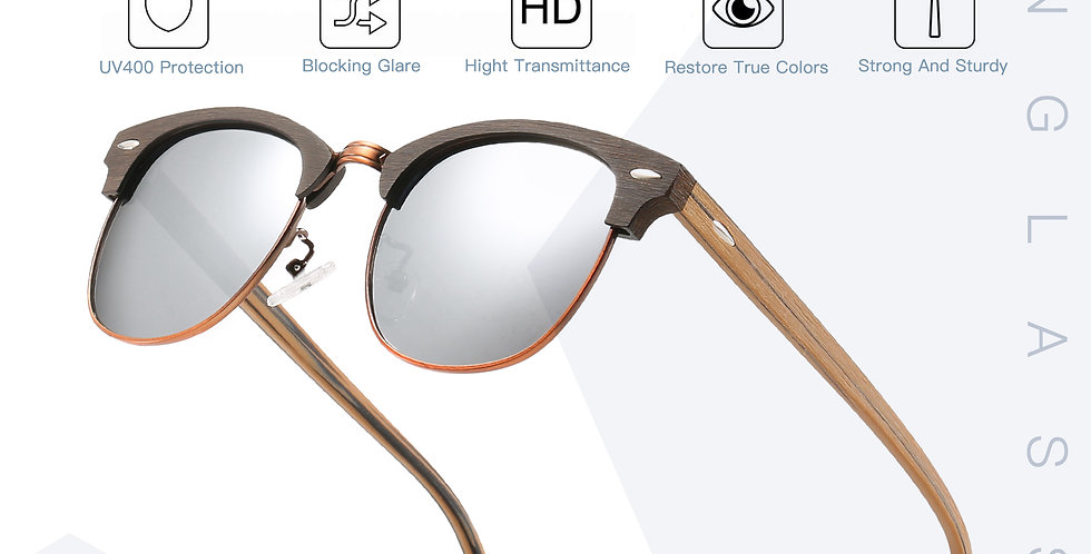 Wood Style Acetate Half Frame Shade