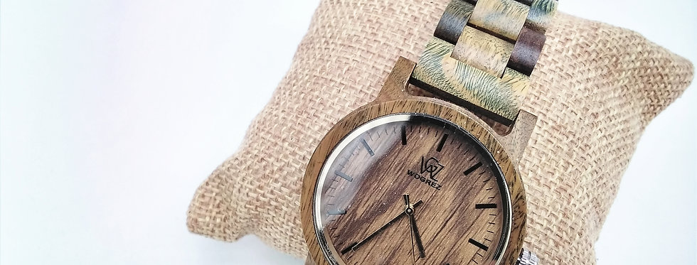 Green wood watch for men and women