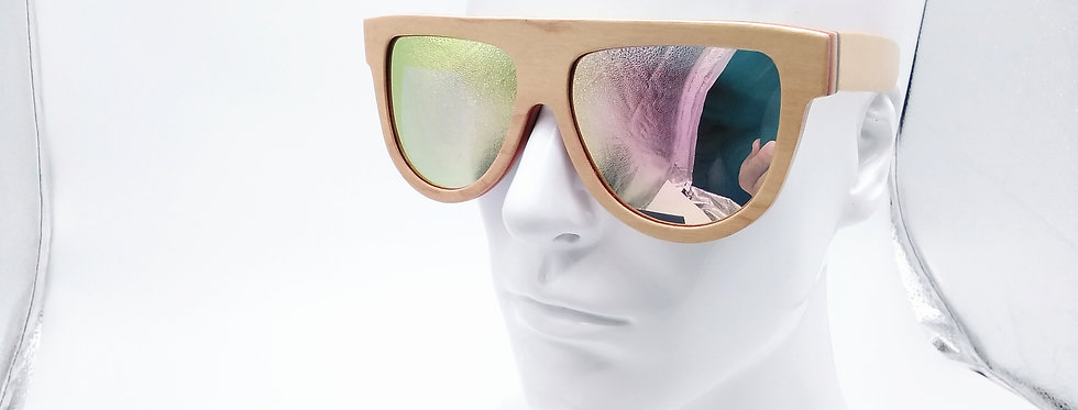 W wooden sunglasses maple wood