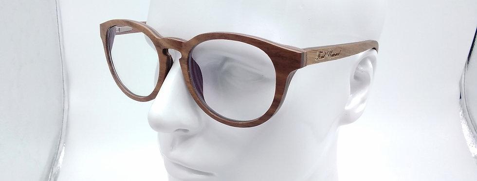 Round wooden glasses walnut ebony rosewood design