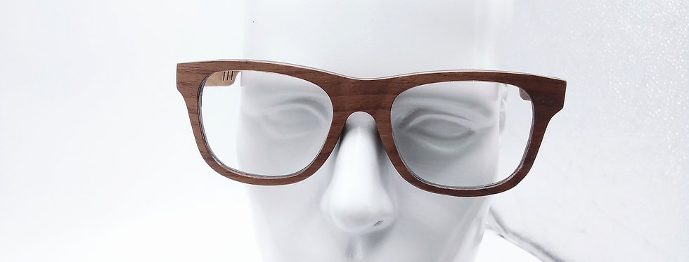 Square wooden glasses Walnut design