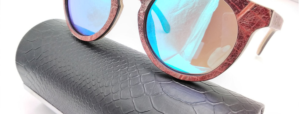 Leaf Round Sunglasses
