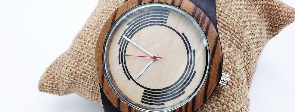Zebra wood watch ebony wood