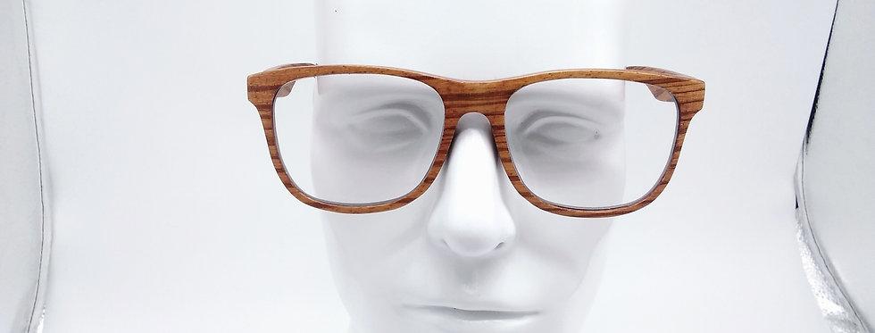 Square wooden glasses rosewood zebra wood design