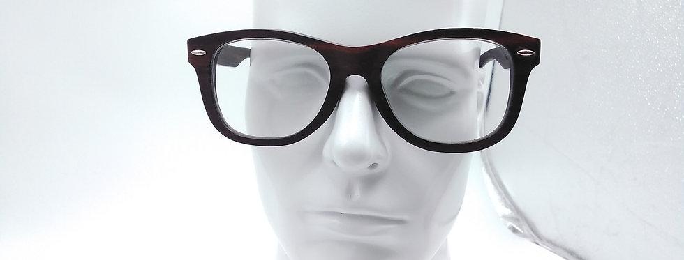 Square wooden glasses ebony wood