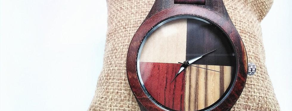 Four colour wooden watch