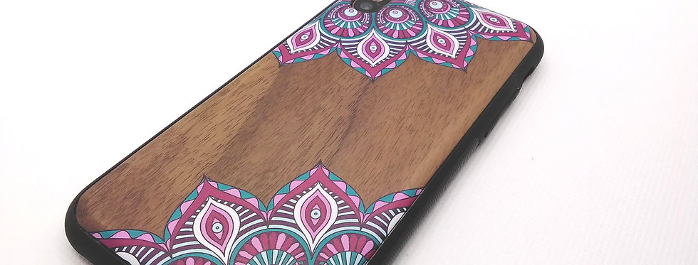 Walnut based wooden Iphone X/XS cover