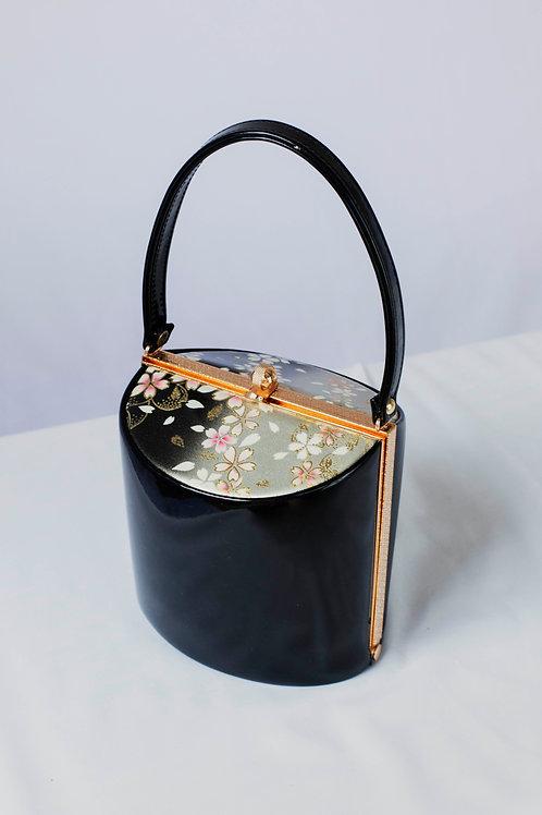 BLACK GLOSSY SAKURA BAG