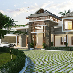 Nadeer and Kshema Residence at Koratty, Thrissur