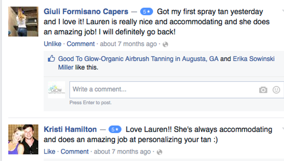 airbrush tan reviews augusta ga