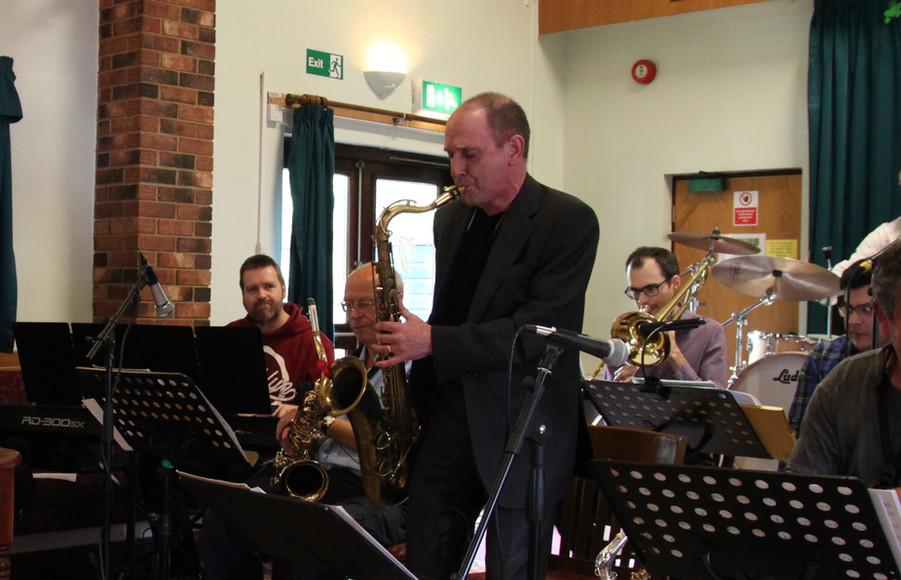 Crash Collective Big Band performing live at St Patrick's Irish Club, Leamington Spa