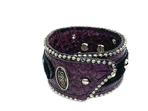 "1.75"" Wide 2018 Purple Italian Croco Bracelet"