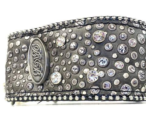 """2.25"""" Wide 50 Shades of Grey - Martingale Collar"""