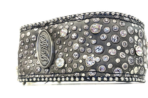 "2.25"" Wide 50 Shades of Grey - Martingale Collar"