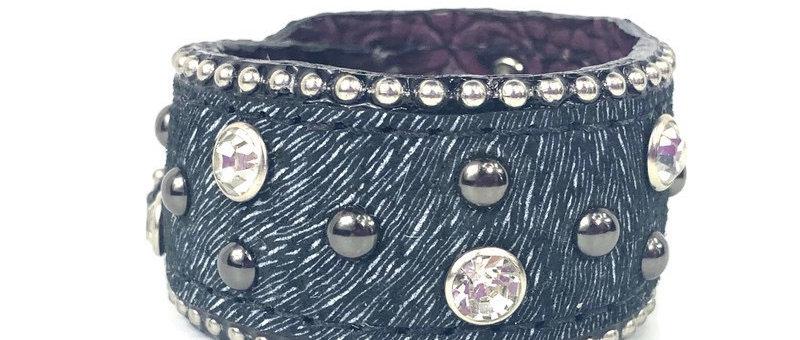 Black Boar Hide Cuff Bracelet