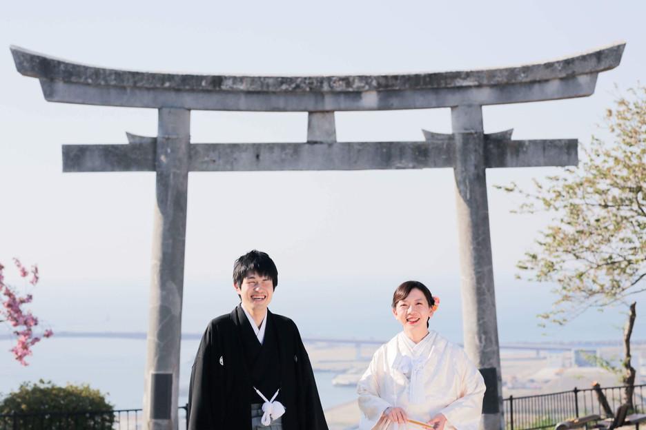 鹿島御子神社での結婚式前撮り