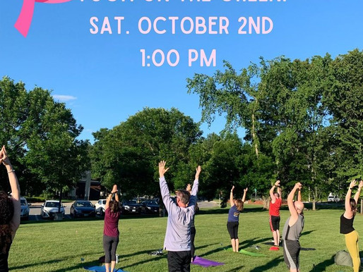 Yoga on the Green! Saturday, Oct. 2, 2021 @ 1pm