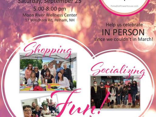 Polka Dot Powerhouse Birthday Party: Sat. Sept. 25, 5-8pm at MRWC, Pelham, NH