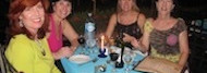 Friends Dining in Jaco