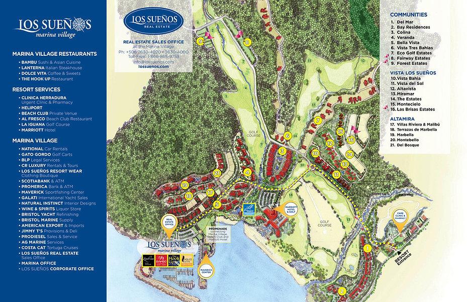 los Suenos Resort Map Showing Fishshack Condo