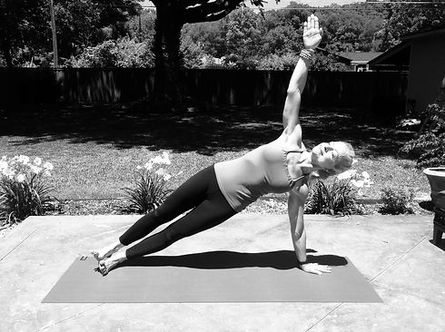 Meshelle Whitt b&w side plank.jpg