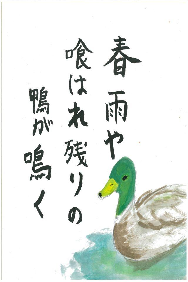 春雨や喰はれ残りの鴨が鳴く