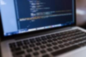 Код на портативном компьютере