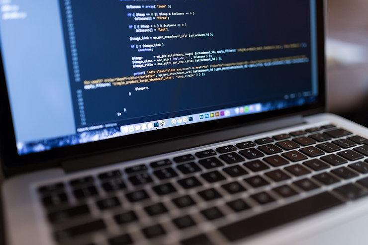 Código no computador portátil