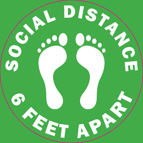 "18"" Round Social Distancing Floor Sign"