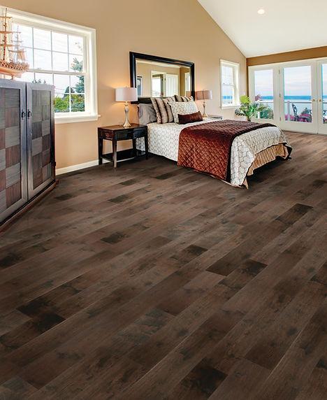 Pro-Smart Flooring American Hickory Bedroom