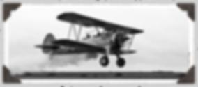 Stearman biplane with smoke effects