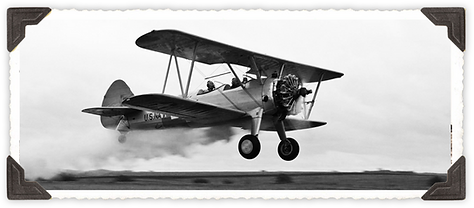 Stearman biplane with smoke effects