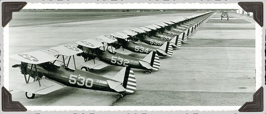 Line of new Stearman planes