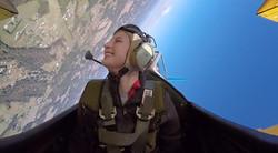 15 yr old Tia LOVED the aerobatics!