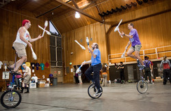 Club Passing on Unicycles
