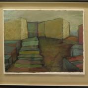 Christiansø, 16x18, akryl og pastel på papir