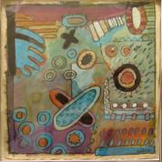 Abstraktion 1, 20x20, akryl på papir