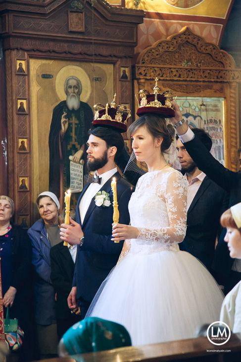 фотография с венчания в храме