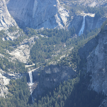 This is Vernal Fall below and Nevada Fall on the top photographed from Glaicer Point