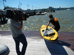 Filming for Globo TV