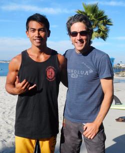 With Olympic paddler Sean Pangelinan