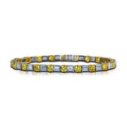Yellow & Colorless Diamond Bracelet