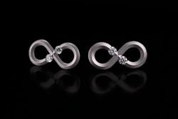 Steven Kretchmer Infinity Earrings